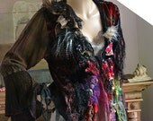 RESERVED For N. Unique Beautiful  Jacket GIPSY   Tribal Textiles Tattered Antoinette Fairy Boho