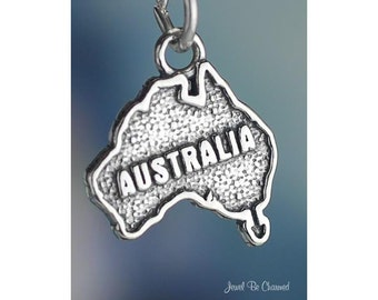Sterling Silver Australia Charm Australian Country Travel Solid .925