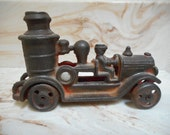 Iron Art Cast Iron Steam/Pumper Fire Truck c.1930 Marked JM 213