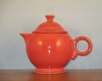 Vintage Fiesta Ware Persimmon Teapot (Fiestaware)