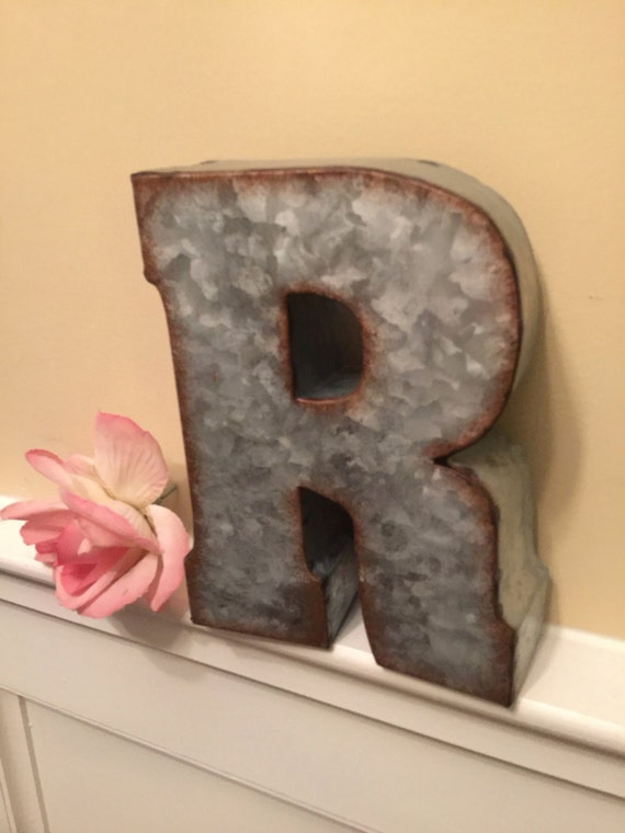 metal letters home decor metal letters wall decor wedding decor galvanized letter 23627 | il 570xN.1025217472 fams
