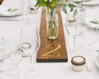 Numbered Wood Table Runners Rustic Wedding Rental