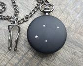 CUSTOM Metal Pocket Watch - Zodiac Constellations - Monogram