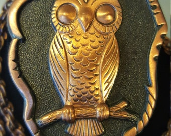 Give A Hoot - Solid Copper Owl Necklace