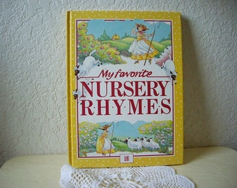 Book: My Favorite Nursery Rhymes, 1987. Near new condition