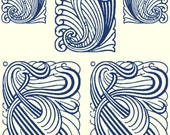 A323 (Art Nouveau Shapes)  for the Rolling Mill, Low Relief Pattern.