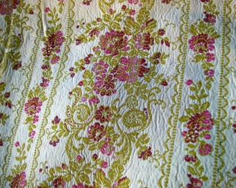 Bundle of Vintage French Fabric Pieces Satin Material Woven Lisere Silks Textile