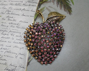 Big Apple KRAMER Aurora Borealis Rhinestone Brooch