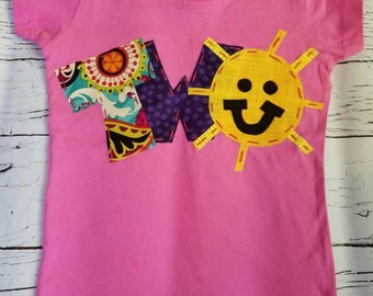 Sunshine birthday shirt, 2nd, 2, you are my sunshine, sun shine, t shirt, girl pink,