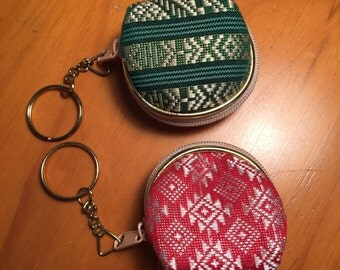 2 coin pouch with key ring