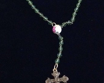 Handmade one of a kind rosary using vintage components