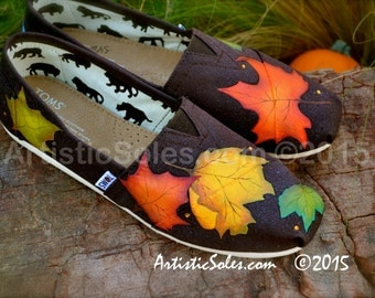 Falling Leaves Themed Custom TOMS Shoes