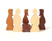 Simple Wooden Nativity Children's Wood Toy Nativity Christmas Manger Religious  Toy Creche Christmas Decoration