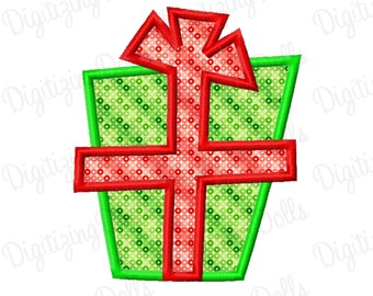 Present Applique 3 Machine Embroidery Design 4x4 5x7 6x10 Christmas Gift Birthday INSTANT DOWNLOAD