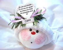 Granddaughter Ornament Christmas  Townsend Custom Gifts Sample - Heart I'll Love You Forever...Grandbaby