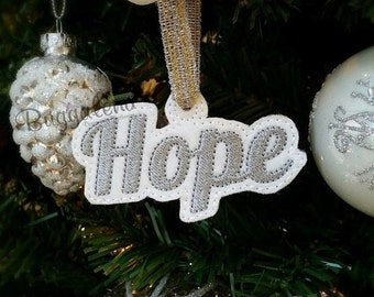 ON SALE Hope Ornament ITH Machine Embroidery Design