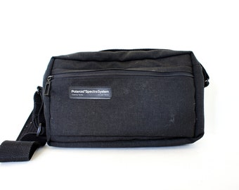 Vintage Black Zipper Top Polaroid Spectra Camera Carry Case