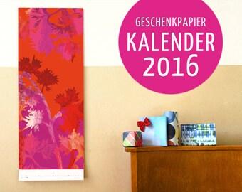 Gift paper calendars 2016 (A)