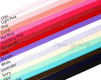 Skinny Elastic 1/4 inch - Thin Elastic, Skinny Elastic, Elastic Trim, Thin Headband, Skinny Headband, Thin Baby Headbands