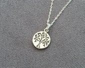 Tree of Life Sterling Silver Necklace. Choose your length. 16, 18, or 20 inches