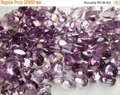 50% VALENTINE SALE Wholesale Amethyst Lot - Amethyst Oval Cut Stones - 10 CTW - 12 Pieces Approx - 4x6mm To 7x11mm, Amethyst Cabochons