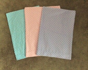 Personalized Flannel Polka dot Toddler Pillow case