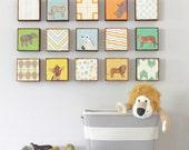 Safari Nursery Art l Choose (15) FIFTEEN of our Custom Designs 5x5 Nursery Decor Nursery Art
