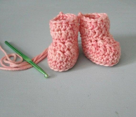Baby Booties Crochet Pattern Dk Wool : Crochet Bootie Kit, DIY Kit, Easy Baby Bootie Kit, Pattern ...