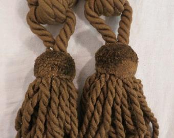 Pair Vintage European Tie Back Tassels