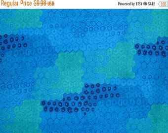 ON SALE Honeycomb Print in Blues Pure Cotton Fabric from Alexander Henry--One Yard