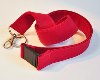 Fabric Lanyard  ID Badge Holder -  Teacher lanyard - Professional solid color / colour  - Breakaway safety clasp