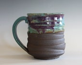 Coffee Mug, 16 oz, unique coffee mug, handmade cup, handthrown mug, stoneware mug, wheel thrown pottery mug, ceramics and pottery
