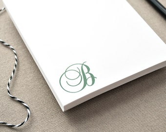 Custom Monogrammed Notepad / Notepad with Initial / Personalized Notepad Gift