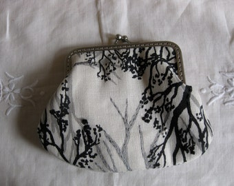 4 inch Snap Coin Purse - Hand embroidered