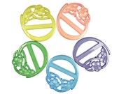 Belt buckle slides 5 color mix one lot