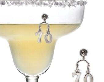 70th Birthday Magnetic Wine Charm