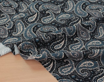 Paisley corduroy cotton by the yard (width 44 inches) 76459