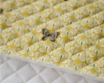 Quilted Butterflies Printed Cotton By the yard (width 44 inches) 78452