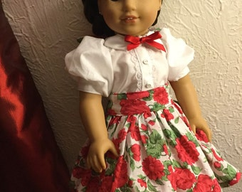 1950s style 4PC skirt set for American Girl dolls