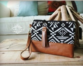 On the go wristlet - wristlet - Navajo wristlet - South Western wristlet bag - Leather wristlet