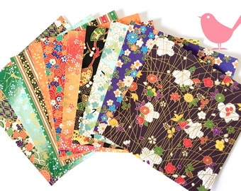 Scrap Pack - Japanese rice and origami paper ephemera, paper with beautiful golden print