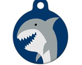 Pet ID Tag - SHARK Pet Tag, Dog Tag, Cat Tag
