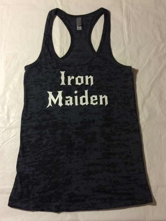 Iron Maiden T-Shirts and Merchandise Be a trooper and check out our huge assortment of Iron Maiden t-shirts and Iron Maiden tank tops so you can show your love for these rock legends. Shop now for all the exclusive and limited edition Iron Maiden clothing and apparel you can't find anywhere else!