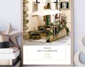 2017 Italy Desk Calendar - Photography Calendar - Travel Calendar - Christmas Gift for Traveler - Rome Amalfi Sicily Tuscany - Europe Photos