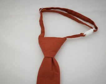 Rust Orange Clip on Necktie - Infant, Toddler, Boys