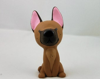 Hand Sculpted Fawn Great Dane Derp Figurine