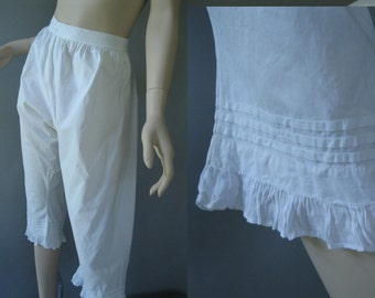 Victorian Pantaloons - Antique Bloomers - 1900 Edwardian  Whiter Lingerie
