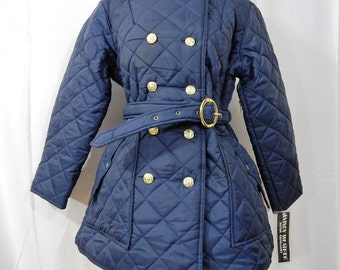 New With Tags ----WINDY WEATHER ---1970s Quilted Pea Coat-----Dead Stock --Warm Coat