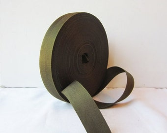 ON SALE Roll Vintage Army Green Nylon Strap - Heavyweight - 1 inch