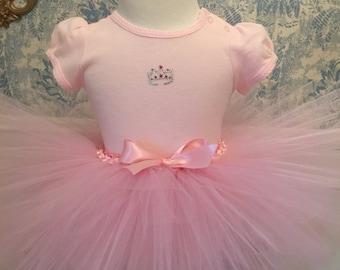 Pink Princess Tutu Set-Crown Tutu-Princess Tutu & Onesie